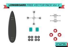 Pack de vecteur gratuit longboard vol. 2