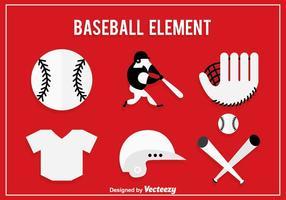 Vecteur d'icônes de baseball