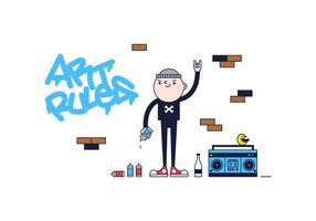 Vecteur gratuit de graffitis