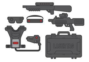 Vecteur d'étiquette laser