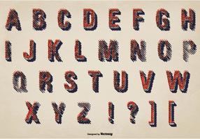 Ensemble d'alphabet désordonné de grunge vecteur