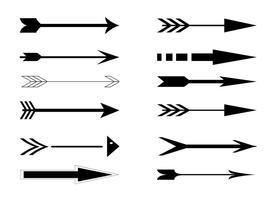 Ensemble de flèche vectorielle vecteur