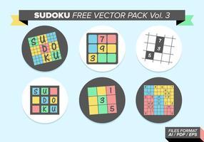 Sudoku pack vectoriel gratuit vol. 3