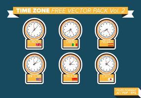 Fuseau horaire pack vecteur gratuit vol. 2