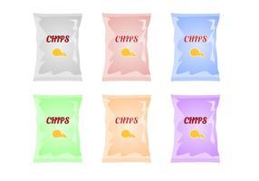 Vecteur de sac de chips gratuit