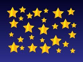 Fond d'écran Golden Star vecteur