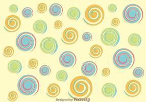 Contexte Swirly Circle vecteur