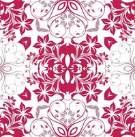 Motif floral magenta transparent vecteur