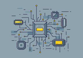 Vecteur microchip gratuit
