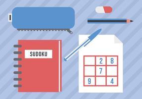 Icônes de vecteur de jeu de Sudoku