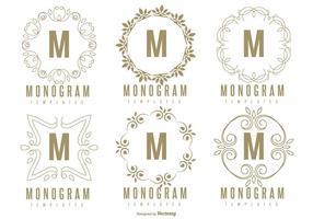 Ensemble de modèles de monogramme vecteur