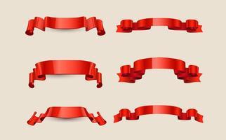 Vecteur ruban rouge gratuit