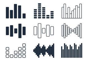 Icônes Minimalistes des bars sonores