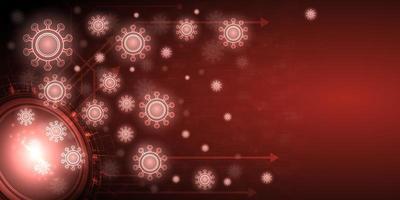 bannière de fond de virus rougeoyant