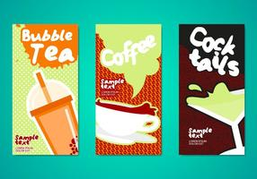 Modèle de prospectus pour boissons au thé aux bulles vecteur