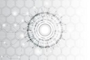 fond de technologie abstrait noir et blanc