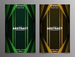 design minimaliste de la couverture gradient tech