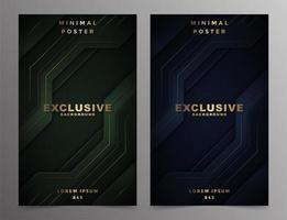 conception de couvertures minimales de technologie abstraite de luxe