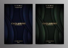 conception de couvertures minimales de luxe vague abstraite