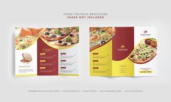brochure à trois volets pour le menu des aliments vecteur