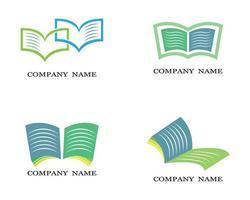 ensemble de logo de livre