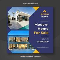 modèle de bannière sociale immobilier maison moderne