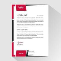 modèle de papier à en-tête d'affaires cadre noir rouge