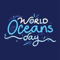 affiche de la journée mondiale des océans