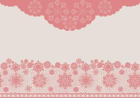 Texture de dentelle vectorielle rose vecteur