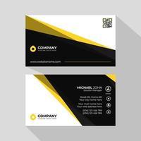 cartes de visite avec vagues jaunes