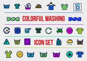 Icônes vectorielles de lavage gratuites