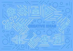 Idées créatives de vecteur libre