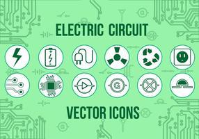 Icônes vectorielles électriques gratuites vecteur