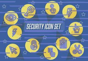 Icônes abstraites gratuites de vecteur de sécurité