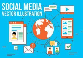 Icônes gratuites de vecteur de médias sociaux