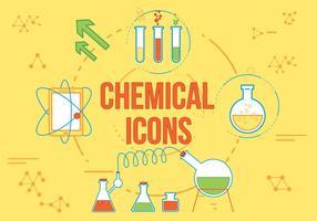 Icônes vectorielles chimiques gratuites vecteur