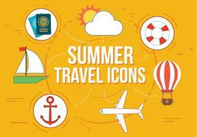 Icônes gratuites de voyous de voyage d'été vecteur