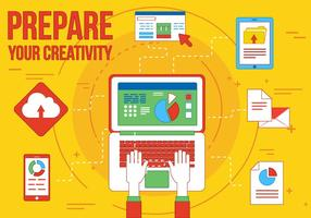 Icônes vectorielles créatives gratuites, illustrations