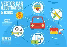 Illustration et icônes gratuites de voiture de vecteur