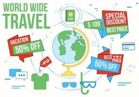 Illustration vectorielle gratuite de voyage