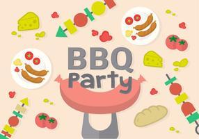 Vecteur de fête de barbecue gratuit