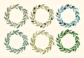Couronne d'olive vectorielle vecteur