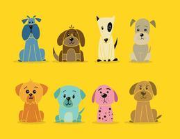 Vecteurs de chiens nationaux de vacances pour animaux de compagnie