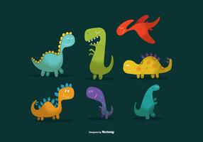 Mignons vecteurs de dinosaures