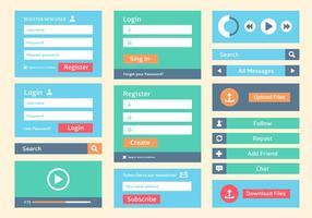 Fond d'écran gratuit de l'interface utilisateur de l'interface Web