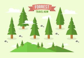 Collection d'arrière-plan Flat Forrest Gratuite
