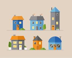 Maisons vectorielles