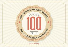 Illustration d'anniversaire de 100 ans