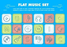 Icônes gratuites de musique vectorielle à plat vecteur