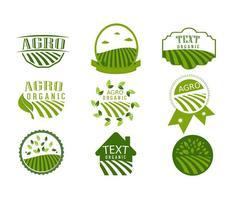 Vecteurs de conception de logo agro symboliques simples vecteur